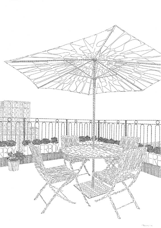 modernmantra On terrace drawing